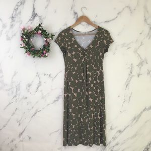 Boden Ruched Bubble Print Jersey Knit Dress